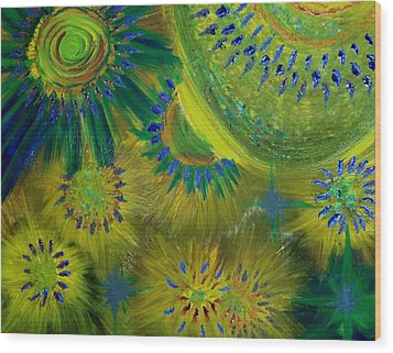 Universe Of Color Wood Print by Evelyn SPATZ