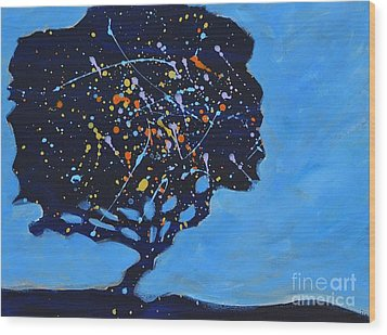 Universial Tree Wood Print by Barbara Tibbets