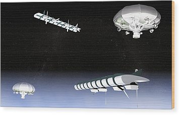 Unmanned High Altitude Aircraft, Artwork Wood Print by Christian Darkin