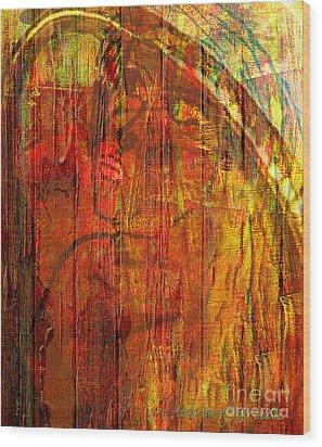 Unmixed Faith Wood Print by Fania Simon