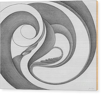 Unnamed Sketch 02 Wood Print by Joanna Pregon
