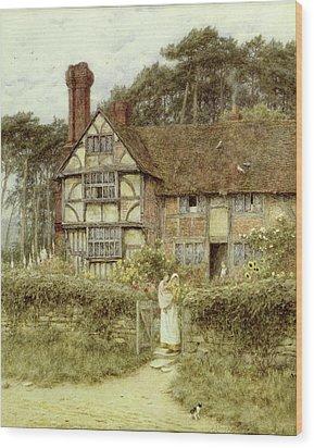 Unstead Farm Godalming Wood Print by Helen Allingham