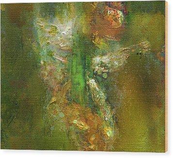 Untitled Iris Wood Print by Petro Bevza