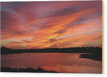 Wood Print featuring the photograph Untitled Sunset-2 by Bill Lucas