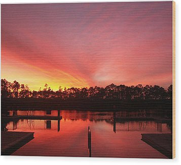 Wood Print featuring the photograph Untitled Sunset-3 by Bill Lucas