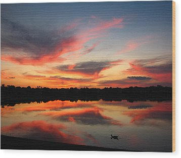 Wood Print featuring the photograph Untitled Sunset-4 by Bill Lucas