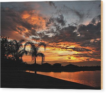Wood Print featuring the photograph Untitled Sunset-8 by Bill Lucas