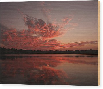 Untitled Sunset-9 Wood Print by Bill Lucas
