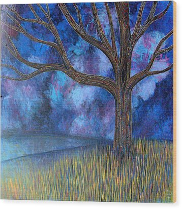 Wood Print featuring the painting Untitled Tree 0001 by Monica Furlow