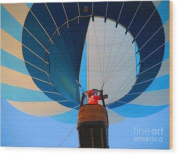 Wood Print featuring the photograph Up Into The Blue. Oshkosh 2012. by Ausra Huntington nee Paulauskaite
