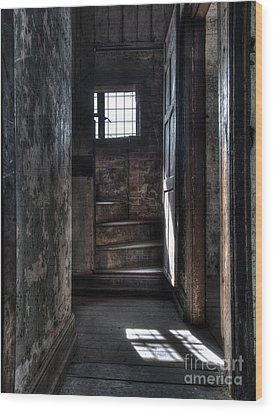 Up The Stairs Wood Print by Steev Stamford