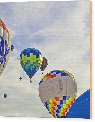 Up Up And Away Wood Print by Carolyn Meuer-Pickering of Photopicks Photography and Art