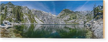 Upper Canyon Creek Lake Panorama Wood Print