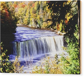 Upper Tehquamenon Falls Wood Print