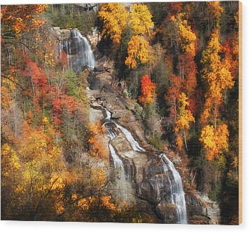 Upper Whitewater Falls Wood Print by Lynne Jenkins