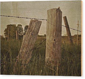 Uprights Wood Print by Odd Jeppesen