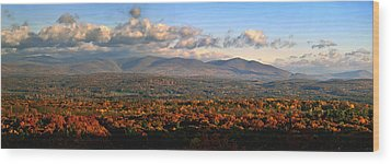 Upstate Ny Panorama Wood Print by Terry Cork