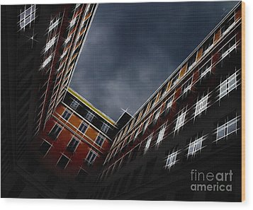 Urban Drawing Wood Print by Hannes Cmarits