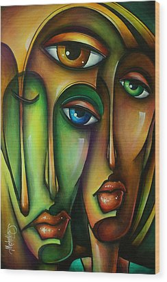 Urban Expressions Wood Print by Michael Lang