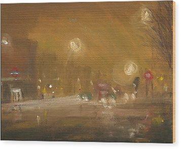 Urban Mist 1 Wood Print by Paul Mitchell