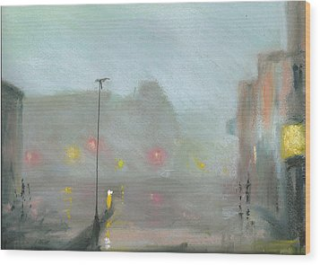 Urban Mist 2 Wood Print by Paul Mitchell