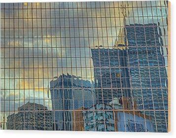 Urban Reflections Wood Print by Drew Castelhano