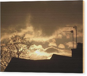 Wood Print featuring the photograph Urban Sunset In April 2012 by Martin Blakeley