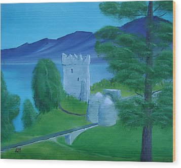 Urquhart Castle Wood Print by Charles and Melisa Morrison