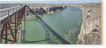 Us 90 Bridge Over Pecos River Wood Print by Gregory Scott