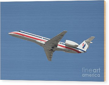 Us Airways Jet Airplane  - 5d18405 Wood Print by Wingsdomain Art and Photography
