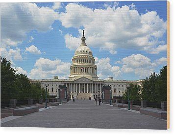 Wood Print featuring the photograph Us Capitol by Pravine Chester