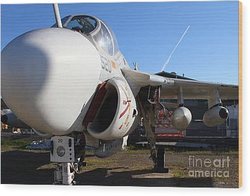 Us Fighter Jet Plane . 7d11232 Wood Print by Wingsdomain Art and Photography