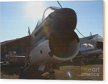 Us Fighter Jet Plane . 7d11296 Wood Print by Wingsdomain Art and Photography