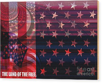 U.s Is On The Continent Wood Print by Fania Simon