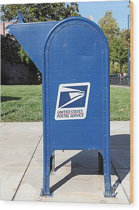 Us Mail Box . 5d18813 Wood Print by Wingsdomain Art and Photography