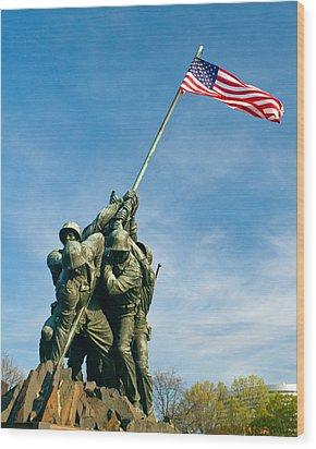 U.s Marine Corps Memorial Wood Print