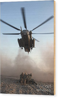 U.s. Marines Preparing To Attach An Wood Print by Stocktrek Images