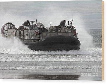 U.s. Navy Landing Craft Air Cushion Wood Print by Stocktrek Images