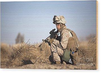 U.s. Navy Soldier Participates Wood Print by Stocktrek Images