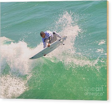 Us Open Of Surfing 2012       12 Wood Print by Jason Waugh