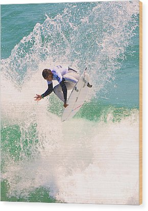 Us Open Of Surfing 2012     11 Wood Print by Jason Waugh