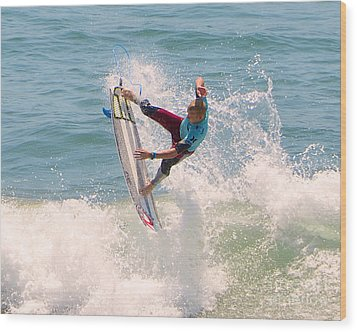 Us Open Of Surfing 2012   1 Wood Print by Jason Waugh
