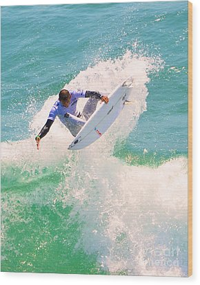 Us Open Of Surfing 2012    9 Wood Print by Jason Waugh