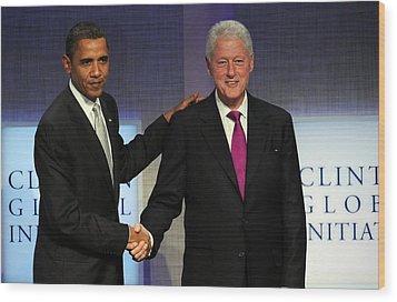 U.s. President, Barack Obama, Former Wood Print by Everett