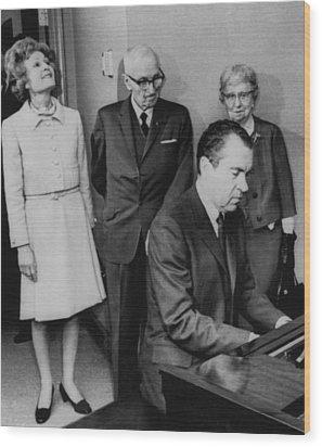 Us Presidents.  Us President Richard Wood Print by Everett