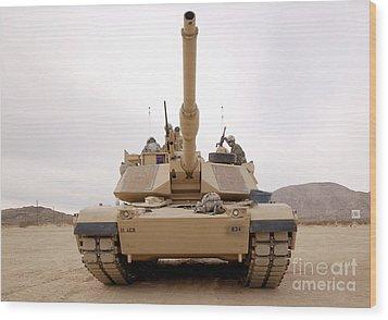 U.s. Soldiers Perform Maintenance Wood Print by Stocktrek Images