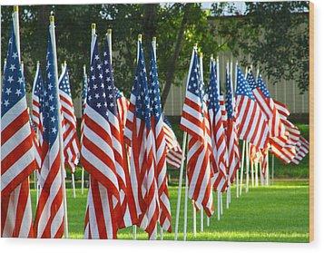 Usa Flags 26 Wood Print