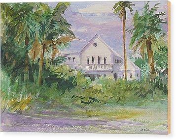 Usepa Island House Wood Print by Heidi Patricio-Nadon