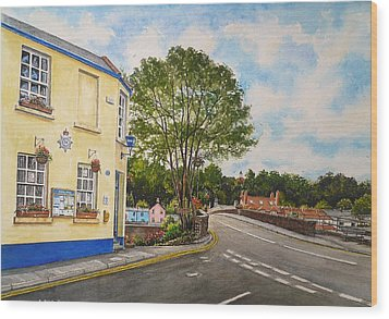 Usk Police Station  Wood Print by Andrew Read