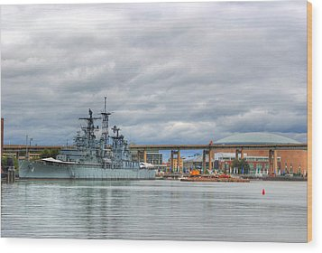 Wood Print featuring the photograph Uss Little Rock by Michael Frank Jr